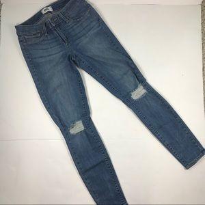 PAIGE Verdugo Ankle Stretch Destroyed Jeans Sz 27